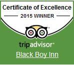 Black Boy Inn Certificate of Excellence 2015
