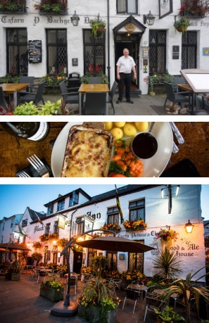 black boy best restaurant and pub Welsh