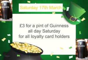 paddys day £3 a pint of @Guinness